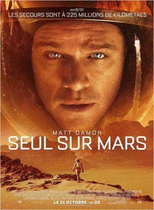 Lors d'une expédition sur Mars, l'astronaute Mark Watney (Matt Damon) est laissé pour mort par ses coéquipiers, une tempête les ayant obligés à décoller en urgence.  Désormais seul, sans moyen de repartir, sur une planète hostile. Il va devoir faire appel à son intelligence et son ingéniosité pour tenter de survivre et trouver un moyen de contacter la Terre.  A 225 millions de kilomètres, la NASA et des scientifiques du monde entier travaillent sans relâche pour le sauver, pendant que ses coéquipiers tentent d'organiser une mission pour le récupérer au péril de leurs vies.  Film américain de Ridley Scott, sorti en France le 21 octobre 2015, avec Matt Damon, Jessica Chastain, Kristen Wiig, Jeff Daniels et Michael Peña.  LIRE LA CRITIQUE