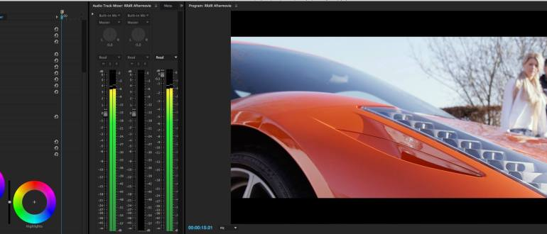 Color grading after movie