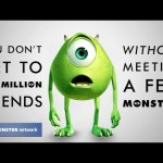 THE MONSTER NETWORK, genial mezcla de MONSTER UNIVERSITY y LA RED SOCIAL
