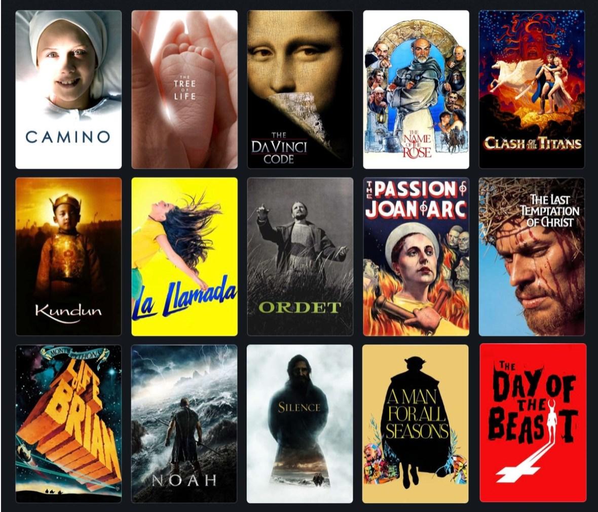 15 películas religiosas en streaming