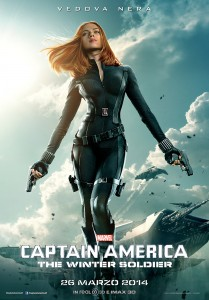 Captain America The Winter Soldier character poster Vedova Nera