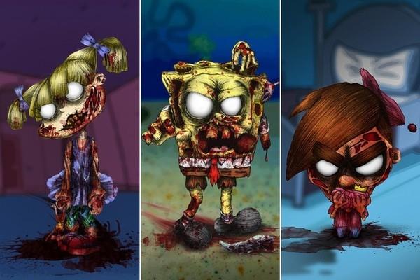 I cartoni animati nickelodeon in versione zombie [foto] cinefilos.it