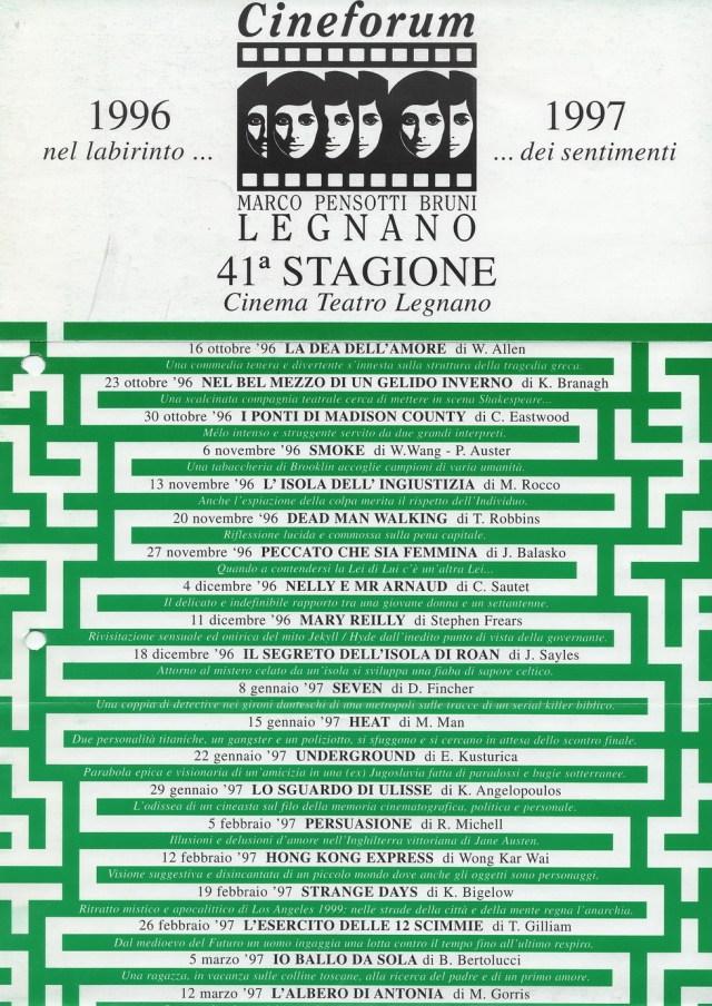 Volantino Stagione 1996-1997