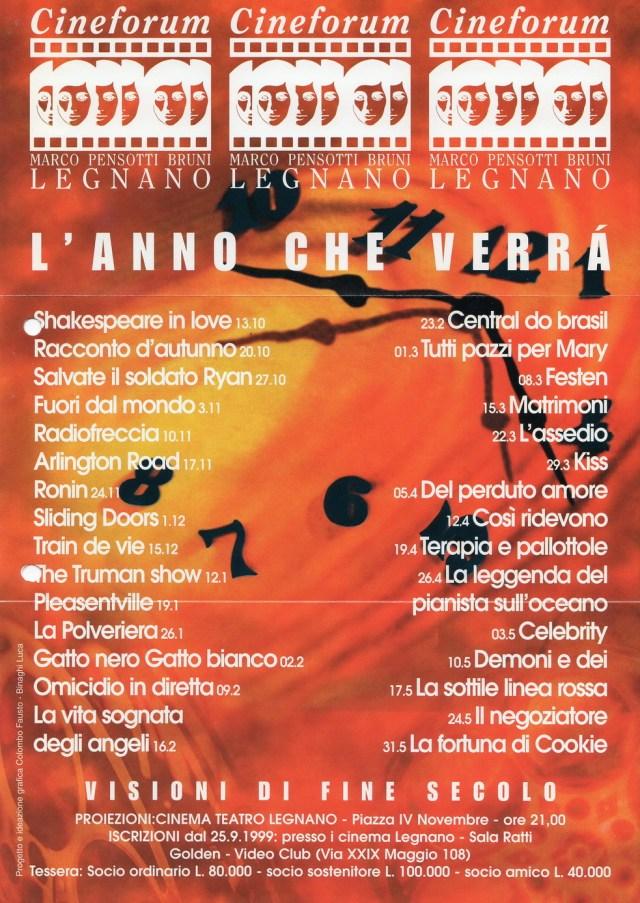 Volantino Stagione 1999-2000