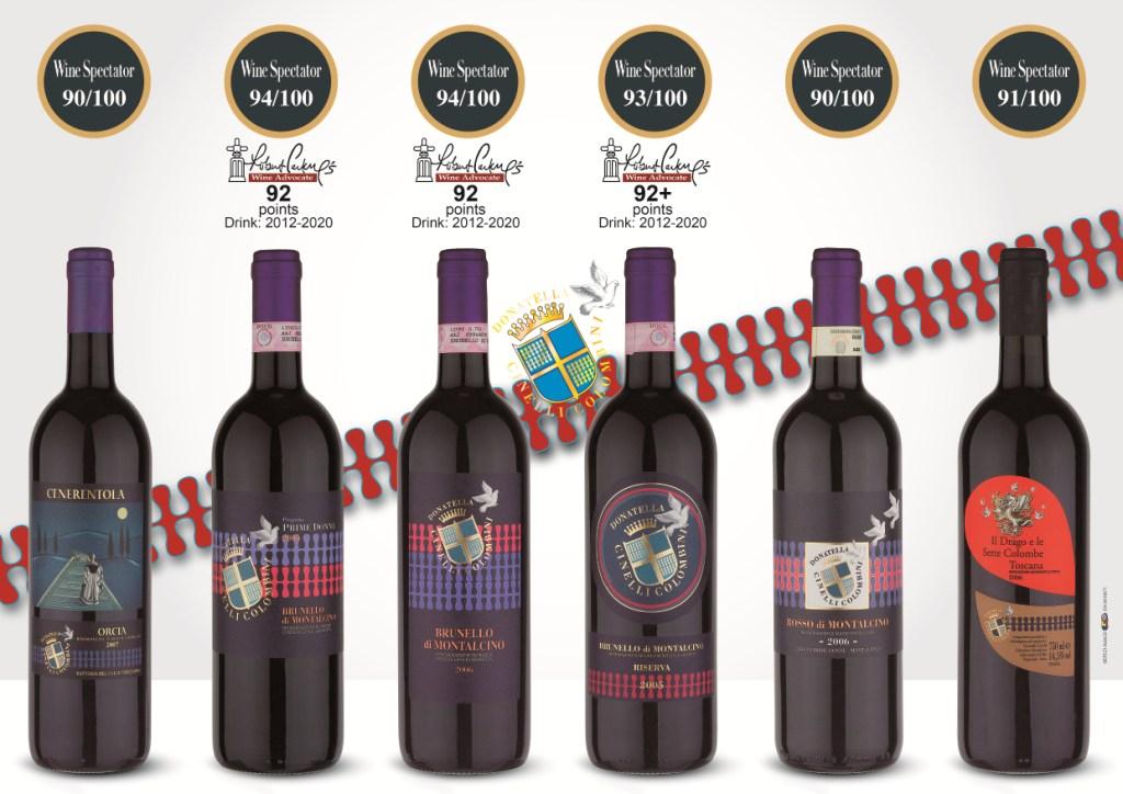 Punteggi Wine Spectator vini DonatellaCinelliColombini