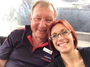 Selfie con Brian durante il pranzo nella cantina di Te Motu