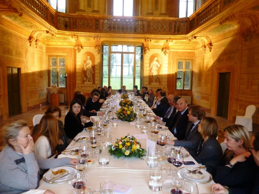 Anteprima Vinitaly 2014 pranzo a Villa Bertani