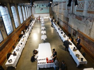 Oslo, the Gambero Rosso tasting hall before it all began