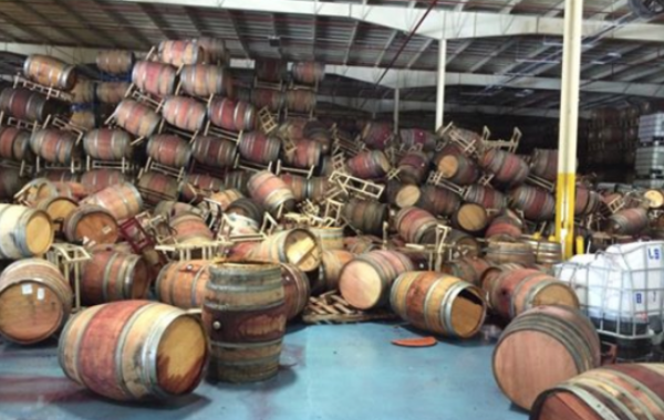 Napa Valley terremoto in cantina