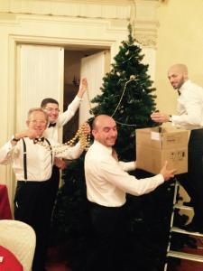 Lions Club Firenze Brunelleschi preparazione dell'albero
