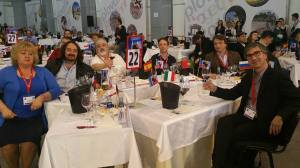 I giurati a lavoro al concorso di Bruxelles