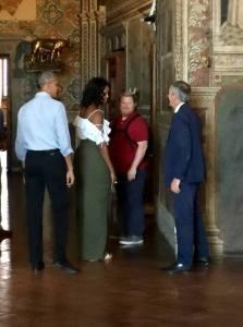 Barack e Michelle Obama nel Comune di Siena