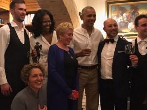 Barack e Michelle Obama a Borgo Finocchieto con Filippo Bartolotta