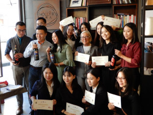 Donatella in China with Sommeliers