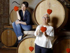 Donatella e Violante Cinelli Colombini al Casato Prime Donne in Montalcino