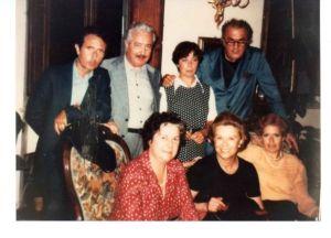 Federico Fellini con Giulietta Masina e le famiglie Guidotti e Cinelli Colombini