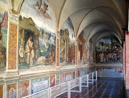 Toscana Abbazia di Monte Oliveto Maggiore Chiostro Grande