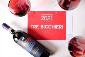 Gambero Rosso Tre bicchieri Brunello di Montalcino 2015