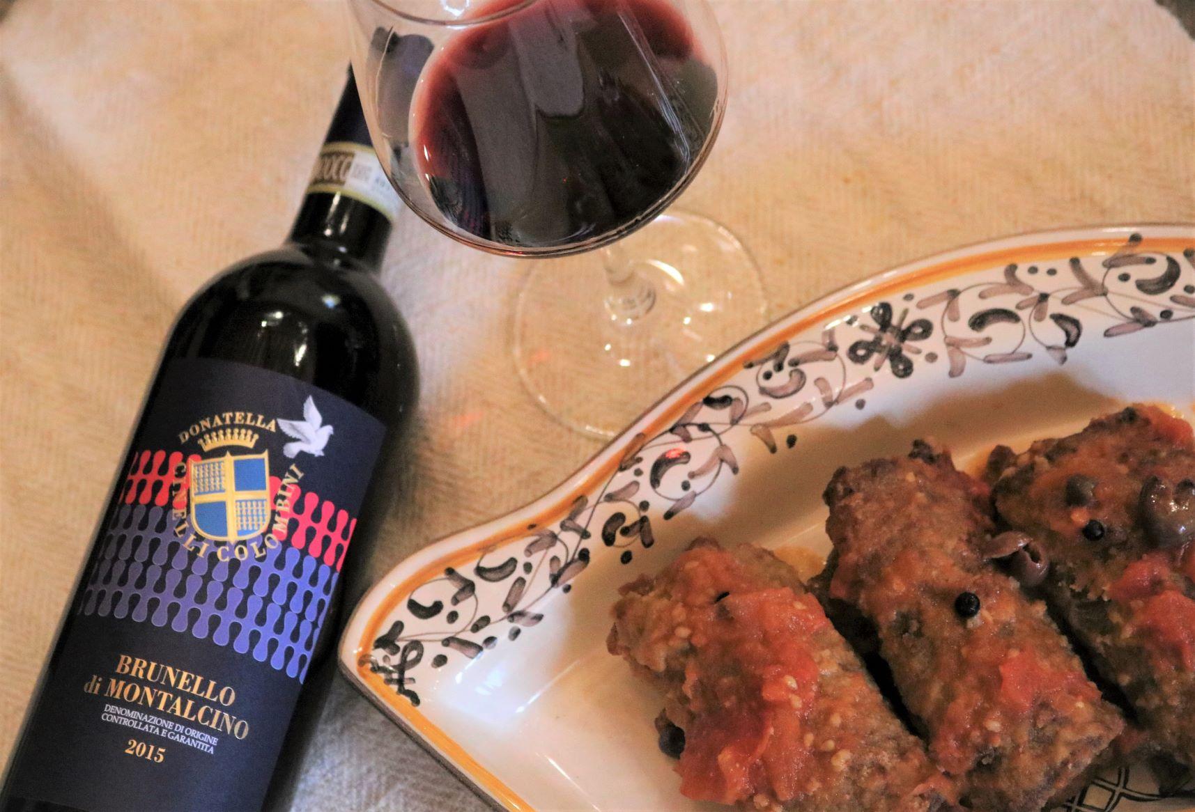 Ricetta tordi finti e Brunello di Montalcino
