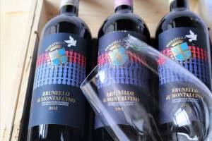Offerta di 3 annate TOP di Brunello di Montalcino 1997, 2007, 2012 e calici Riedel