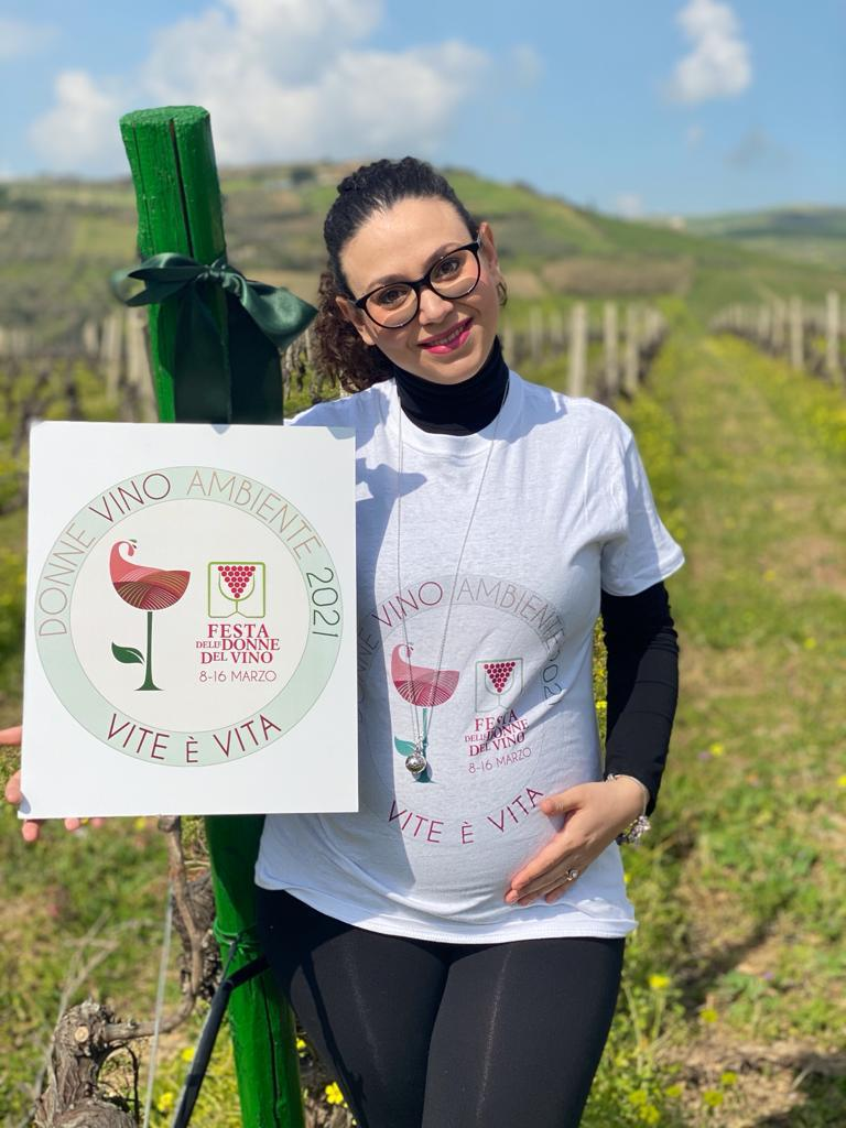 Festa-delle-Donne-Del-Vino-Catia Vaccaro in dolce attesa - Vini Vaccaro - Sicilia