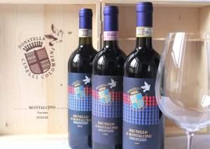 Offerta Brunello di Montalcino di annate 5 stelle: 1997, 2007, 2012 insieme a 6 calici Riedel