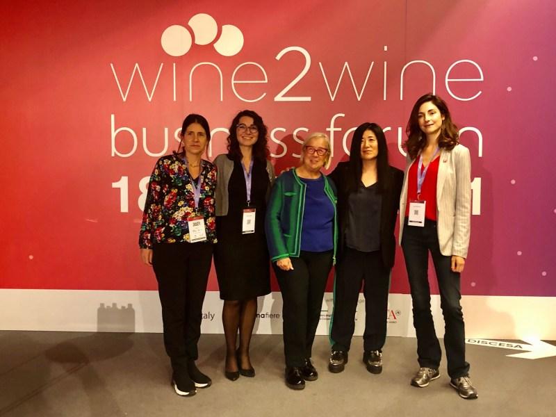 Wine2wine-2021-il-futuro-del-vino-è-donna-Donadoni-Kim-CinelliColombini-Casprini-Ellero