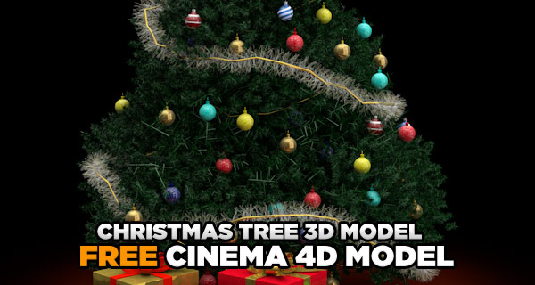 Free Christmas Tree 3d Model Cinema 4D Tutorials