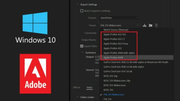 Adobe Adds ProRes Export on Windows for Premiere, After