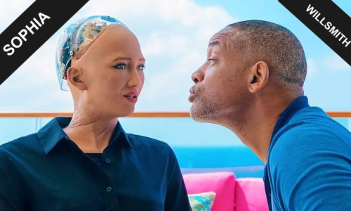 Sophia the Robot: Will Smith met Sophia and they had an amazing awkward date