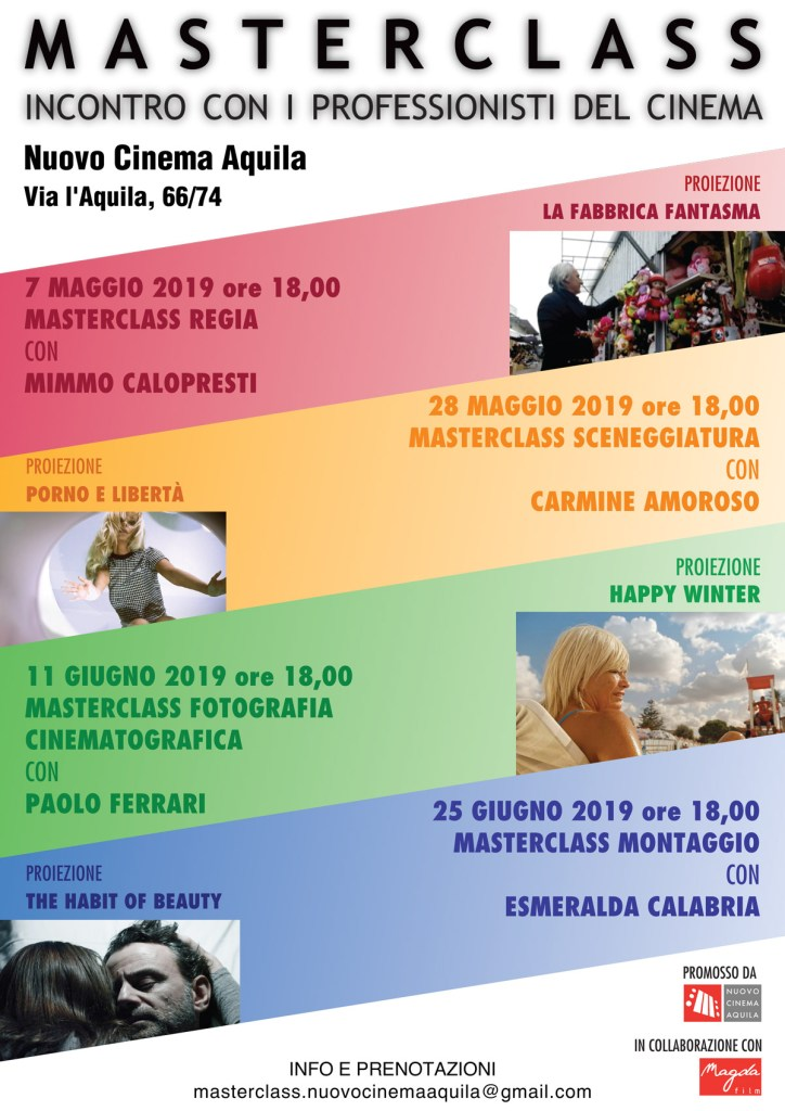 MASTERCLASS CON I PROFESSIONISTI DEL CINEMA: MIMMO CALOPRESTI, CARMINE AMOROSO, PAOLO FERRARI E ESMERALDA CALABRIA in collaborazione con Magda Film