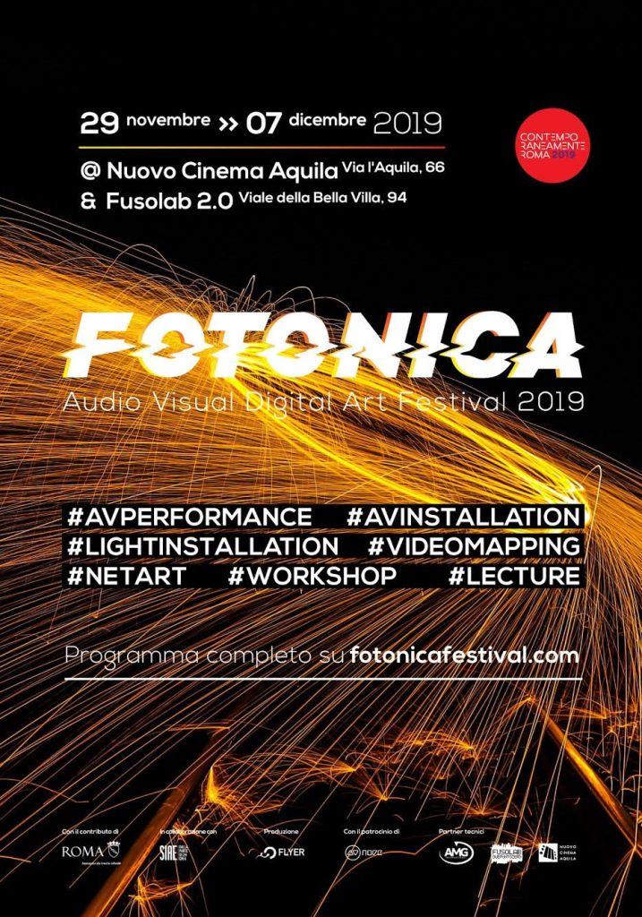 TERZA EDIZIONE DI FOTONICA – AUDIO VISUAL DIGITAL ART FESTIVAL
