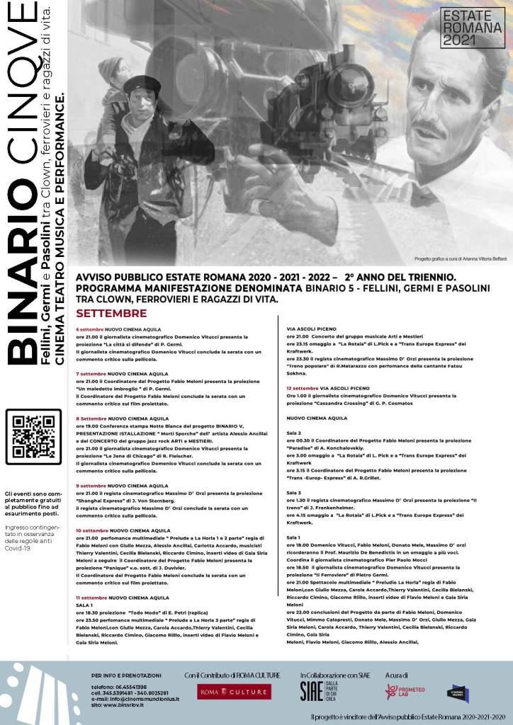 PROGETTO BINARIO V 2021 – SECONDA SETTIMANA DI SETTEMBRE