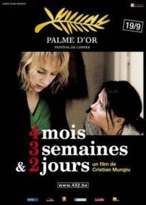 Melhores filmes de drama dos anos 2000 - 4 Meses 3 Semanas 2 horas