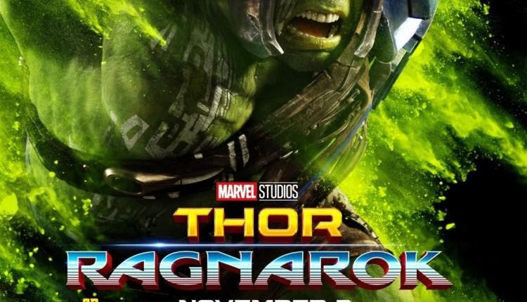 poster thor ragnarok hulk – filmes 2017