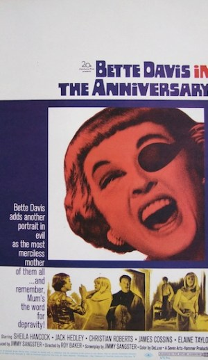 The anniversary (hammer) avec Bette Davis