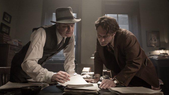 El editor de libros Thomas Wolfe Perkins Jude Law Colin Firth CinemaNet