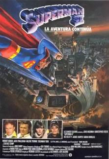 """Poster for the movie """"Superman II, la aventura continúa"""""""