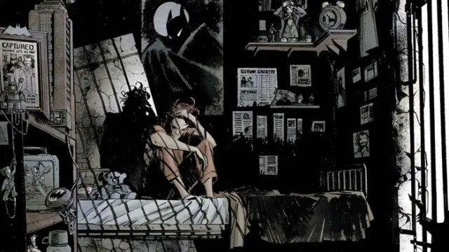 Viñeta de Batman caballero blanco