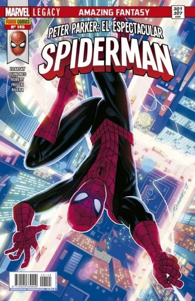 Portada de El Asombroso Spiderman 145 (Panini Cómics)