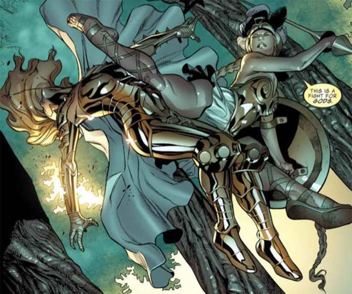 Difference between Thena and Athena of the Marvel Universe
