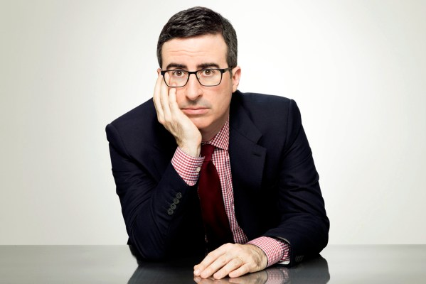 TV STILL -- DO NOT PURGE -- LAST WEEK TONIGHT WITH JOHN OLIVER: John Oliver. photo:Emily Shur/HBO