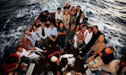 Festival del Cinema Tavolara 2008 - Gli ospiti del festival in rotta per l'Isola di Tavolara