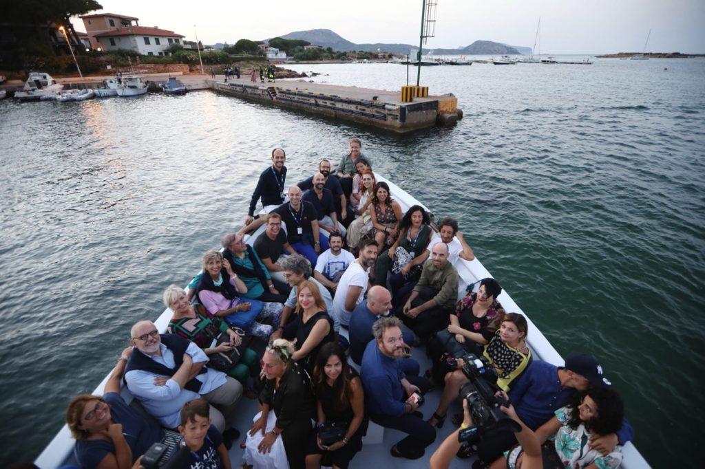 cinematavolara 2019 Foto degli ospiti imbarcati verso Tavolara