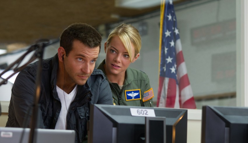 "Bradley Cooper and Emma Stone star in Columbia Pictures' ""Aloha"""