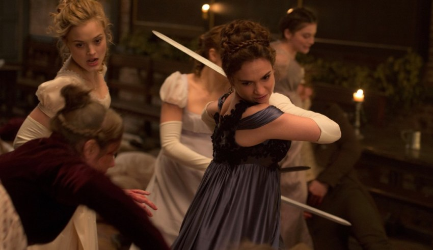 Lily James and Bella Heathcote star in Screen Gems' PRIDE AND PREJUDICE AND ZOMBIES