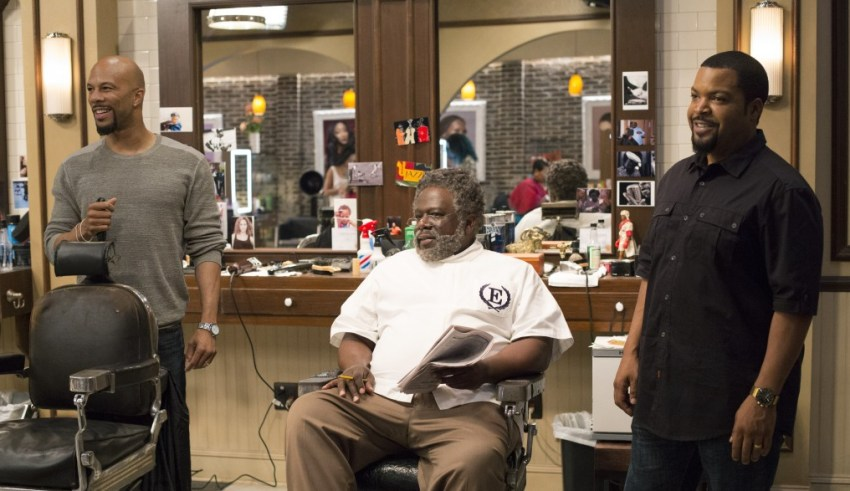 Common, Frederick The Entertainer and Ice Cube star in Warner Bros. Pictures' BARBERSHOP: THE NEXT CUT