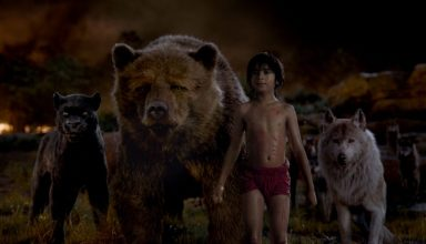 (L-r) Ben Kingsley, Bill Murray, Neel Sethi and Lupita Nyong'o star in Walt Disney's THE JUNGLE BOOK