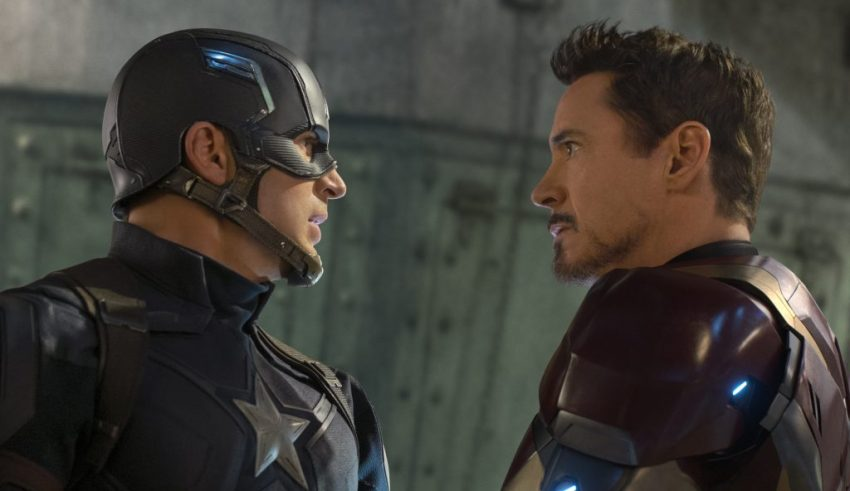 Chris Evans and Robert Downey Jr. star in Marvel's CAPTAIN AMERICA: CIVIL WAR