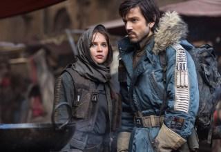Felicity Jones and Diego Luna star in Lucasfilm's STAR WARS: ROGUE ONE
